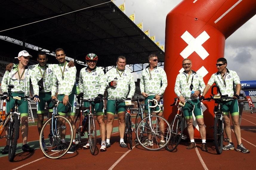 Bij de finish in het Olympisch Stadion (© Gonzo media)