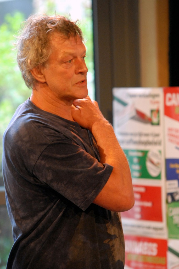 Doede de Jong, VOC Cannabis Tribunaal 2010, Den Haag (© Gonzo media)