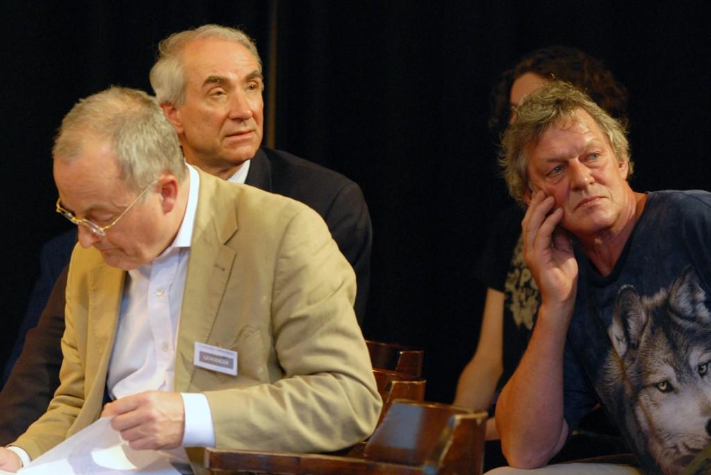 Doede de Jong, Gerd Leers en Hendrik Kaptein, VOC Cannabis Tribunaal, 3 mei 2010, Dudok, Den Haag (© Gonzo media)