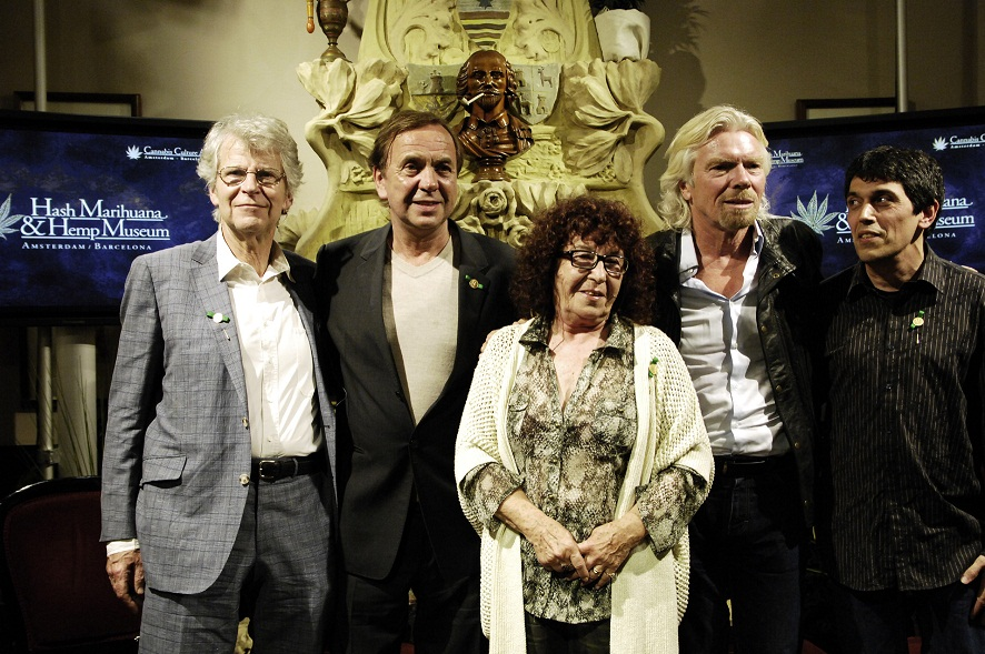 Left to right: Freek Polak, Ben Dronkers Fernanda de la Figuera, Todd McCormick, Barcelona, May 9, 2012