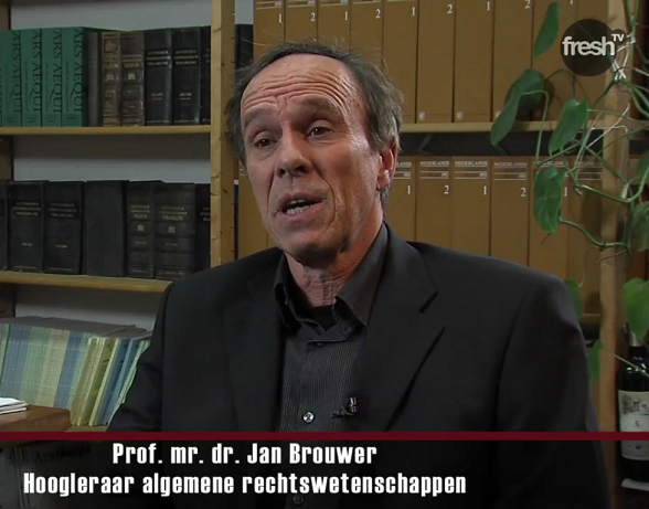 Prof. mr. dr. Jan Brouwer (Beeld: Global Eye / Fresh TV)