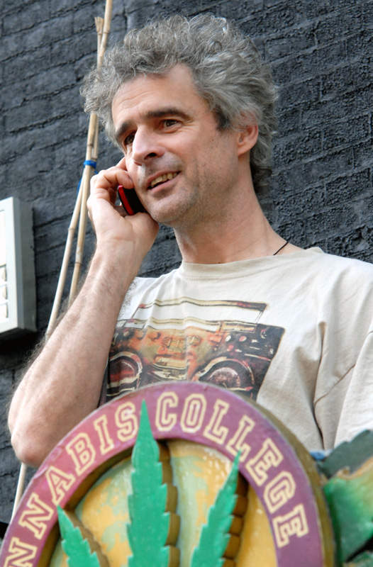 Joep Oomen, Cannabis College, juni 2010 (© Gonzo media)