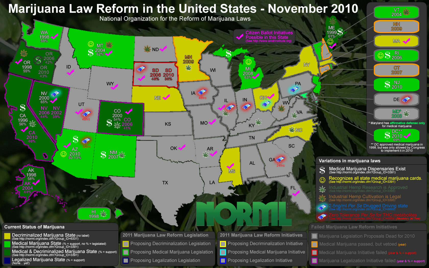 Bron: www.norml.org