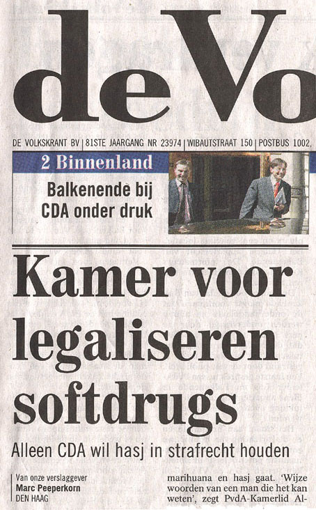 Opening de Volkskrant, 22 april 2003