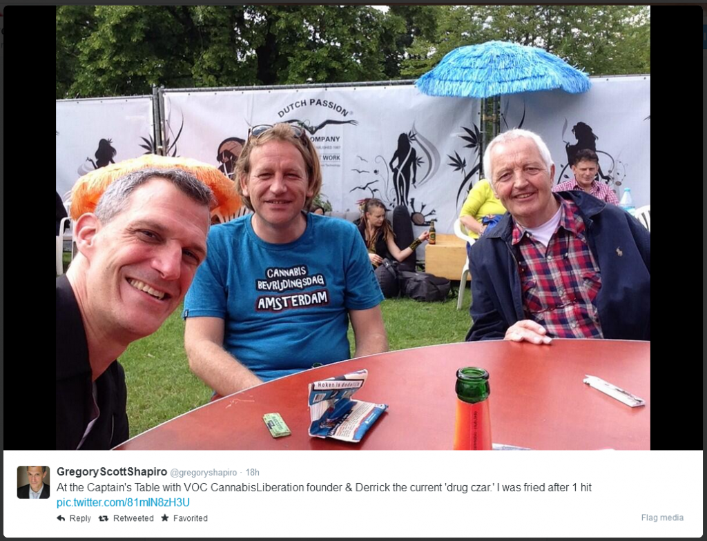 Greg Shapiro, Derrick Bergman and Henk Poncin, Cannabis Liberationday 2014